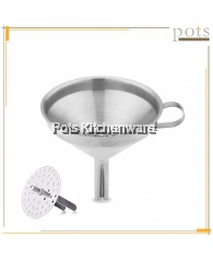 Stainless Steel Oil Funnel with Detachable Strainer Flask-Filling (10cm/12cm/14cm/16cm) - 01022011410/SS230