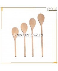 Natural Wood Cooking Long Wooden Spoon Spatula (10inch/12inch/14inch/16inch) - 184-10M