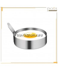Stainless Steel Heavy Duty Commercial Restaurant Use Fried Egg Mold Ring with Handle (9cm) - JPK17122M