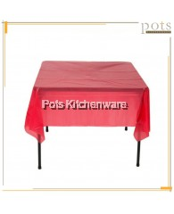 10pcs Disposable Table Plastic Cloth Cover (Red / 180cm x 180cm) - GD7032