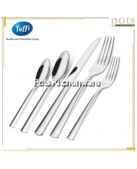 Toffi 6pcs Stainless Steel High Quality Dining Tableware (Table Fork/Table Spoon/Dessert Fork/Dessert Spoon/Soda Spoon/Dessert Soup Spoon) - F3000B