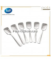 Toffi 6pcs Stainless Steel High Quality Dining Ice Cream Spoon - F3055