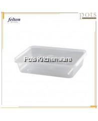 10 PCS Felton BPA Free Plastic Transparent Rectangular Container Food Storage Box (500ml) - LR50010