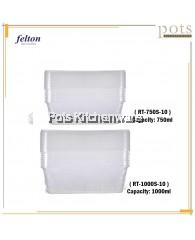 Felton BPA Free 10 in 1 Rectangular Container Food Storage (750ml/1000ml)-LR000A10