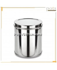 High Quality Stainless Steel Container Canister Jar with Lid (7cm/8cm/9cm/10cm/14cm) - 03KUTID004ICL7M