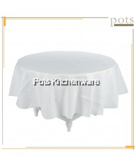 10 PCS Disposable Waterproof Plastic Table Cloth Table Cover (White) - TPTCTTC6024