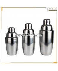 Stainless Steel Bar Cocktail Shaker Drink Mixer Cup with Strainer (300ml/500ml/700ml) - B1700