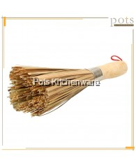 30cm Bamboo Steel Ring Wok Pot Cleaning Brush - BB320