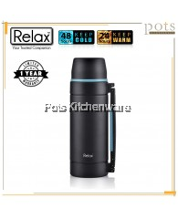 Relax 2000ml Stainless Steel SUS 304 Travelling Thermal Flask (Black) - D3520-08