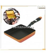 Non Stick IH Induction Compatible Rectangle Egg Roll Tamagoyaki Corn Multi-purpose Cooking Frying Pan - YSR9150