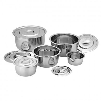 Horse Stainless Steel Extra Thick Indian Pan Pot Small Size (14cm/16cm/18cm/20cm/22cm) - 5105