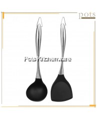 Stainless Steel 304 Handle Silicone Turner Spatula with Hanging Ring - PL347PL349