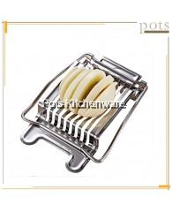 Japan Full Stainless Steel Heavy Duty Wire Hard Boiled Egg Slicer Cutter - 03ESLJP001KHCV13