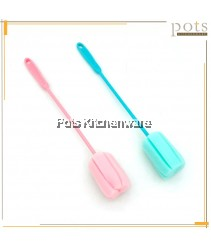 Extra Long Handle Stick Bottle Tumbler Washing Cleaning Sponge Brush Brusher - K316064