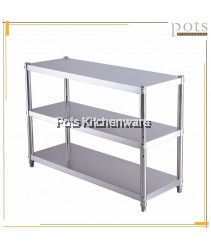 100% Stainless Steel 3 Layer Multipurpose Kitchen Equipment Appliance Cookware Microwave Oven Storage Rack Organizer - R360M