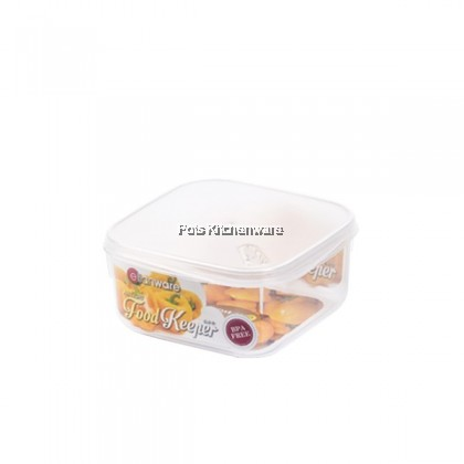Elianware BPA Free Freezer Safe Microwavable Airtight Transparent Square Food Container (500ml/1000ml/2100ml/3800ml) - E1641M