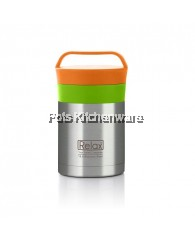 Relax 350ml Stainless Steel Thermal Food Jar OrangeGreen