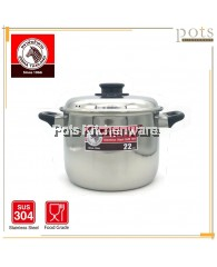 Zebra Image Stainless Steel High Sauce Pot (20cm - 26cm) - 160392A