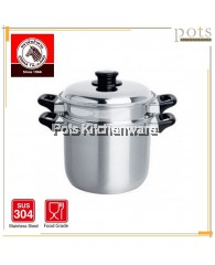 Zebra Stainless Steel SUS304 20cm Double Boiler Steaming Pot- 173320