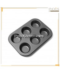 Non Stick 6 Cup Muffin Pan - 96007