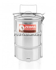 Zebra Stainless Steel 14cm 3-tier Air-Tight Food Carrier - 150246