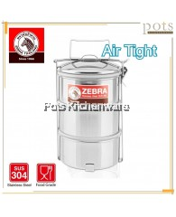 Zebra Stainless Steel SUS304 14cm 3 Tier Air Tight Food Container Tiffin Carrier - Z150246
