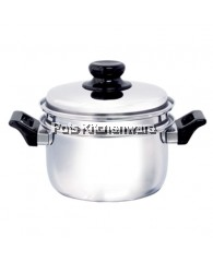24cm HomePlus Stainless Steel Saucepot with Steamer