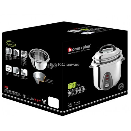 HomePlus 3-Ply Stainless Steel 18/10 Rice Cooker MSRC320 2 Litre