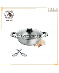 26cm Zebra Shabu Shabu Pan with Glass Lid - Z143004