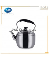 Toffi Stainless Steel Classic Boiling Whistling Gas/Induction Stove BB Kettle - D1100