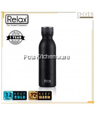 600ml Relax Stainless Steel 18.8 Uniquely Malaysia Design Thermal Tumbler (Black) - D2760-08