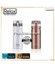300ml Relax Stainless Steel 18.8 Flip Lock Design Thermal Flask - D2430