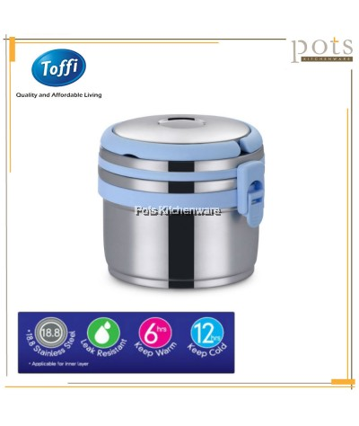 1000ml Toffi Stainless Steel 18.8/SUS304 Thermal Food Carrier Lunch Box - K3910
