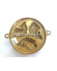 "7.5"" 3 holes Brass Fish Bahulu Mould - SST3"