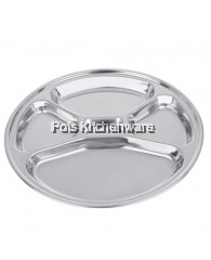 34cm Zebra 5 Compartment Round Tray - Z132036