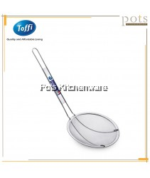 Toffi Stainless Steel Shallow Sieve/Strainer with Long Handle - SD370