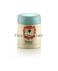 300ml Relax Stainless Steel Thermal Food Jar - YELLOW