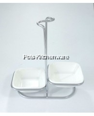 Double Square Ladle Holder