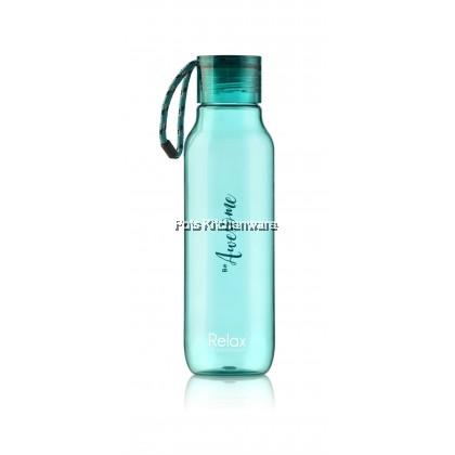 RELAX 670ml BPA Free Twist Lid Clear Design Tritan Drinking Water Bottle - D7367