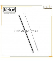 Relax 3pcs/12pcs Reusable Washable Straight Stainless Steel Straw (21.5cm/26.5cm) with Brush Set - D2001D2002
