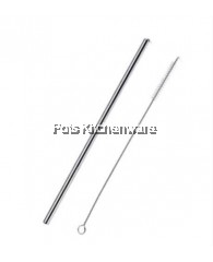 3pcs Reusable Stainless Steel Straw (21.5cm Straight) with Brush Set - D2001-90