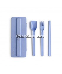 Portable Tableware Spoon Fork Chopstick Set - F0034