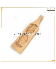Double Fish Wooden Kuih Mould - BB418