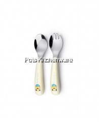 2pcs Baby Flatware - Blue