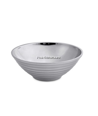 22cm Stainless Steel Double Layer Soup Bowl - K6122