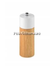 "6"" Rubber Wood Pepper Mill (White) - B3626-11"