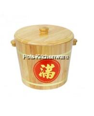 6kg Wooden Rice Barrel - 030-6