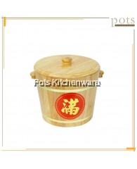 Traditional Wooden Rice Barrel - 030