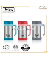 Relax 500ml Stainless Steel 18.8/SUS304 Thermal Office Mug - D1144