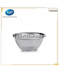 Toffi High Quality Stainless Steel Round Wide Mesh Wide Rim Food Strainer - K8500